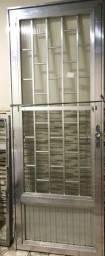 Porta de alumínio de 80cm NOVA