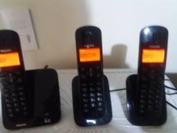 Título do anúncio: Telefone sem fio CD1701B/78 - Perfect sound  - Philips trio