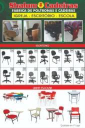 Fábrica cadeiras igreja escritório e escola