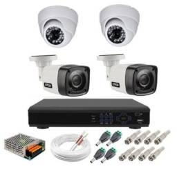 Kit de 4 câmeras promoção 999,000 instalado