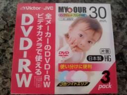 Mini DVD novos para filmadoras