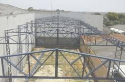 Fabricamos estrutura metalica para telhados e coberturas em geral