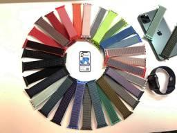 Pulseiras loop para Apple Watch. Diversas cores