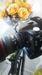 Vendo ou troco kit com 3 baterias grid da maquina e maquina 50D lente 1740linha L