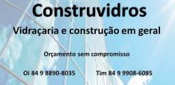 Construvidros: vidraçaria em geral