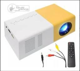 Mini Projetor Portátil Led 1080p 400/600 Lúmens YG300 LCD