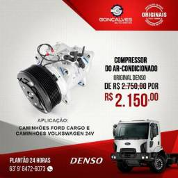 COMPRESSOR DO AR-CONDICIONADO ORIGINAL DENSO FORD CARGO / VW