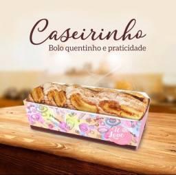 Embalagem forneável para bolo caseiro