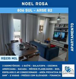 Apartamento - 3 Dormitórios, Sendo 1 Suíte, 84m², 2 Vagas, Prédio com Elevador - 806 SUL