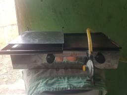Chapa gás para abugues carnes arrumadinho
