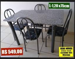 Mesa 1.20m x 75 cm Nova com 4 cadeiras - Entrego montada