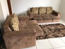 Jogo de Sofa Retrátil 3 e 2 Lugares Bem Conservado- Entrego