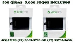 Acessorio / Xbox360 HD interno/ 500 gigas/ aceito cartão/ 5.000 jogos/JCGames