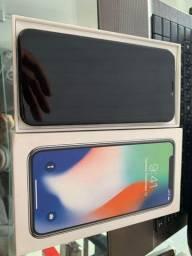 Iphone x 256 gb semi novo com todos acessórios