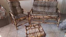 Jogo de Sofá de Bambu