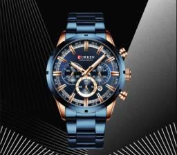 Relógio de Luxo Curren Novo Aco Inoxidável À prova d'água