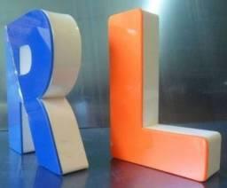Letras promocionais PVC expandido ,letras caixa aço inox, galvanizado, acrílico,