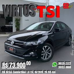 Smart Veículos - VW Virtus Comfortline 1.0 TSI, 18/2019, 20.155 Km. R$ 73.900,00