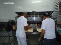 Balcão de pizza pizzaiolo em aço inox sob medida direto do fabricante