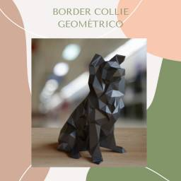 Border collie geometrico 3d