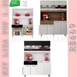 Armário de cozinha liza pop 1,20