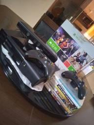XBox360 com Kinect  completo