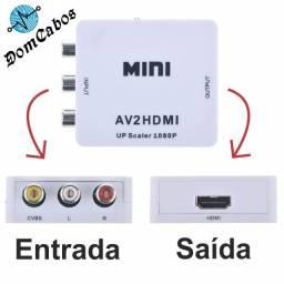 Mini Adaptador Conversor Video Composto 3 Rca Av Para Hdmi