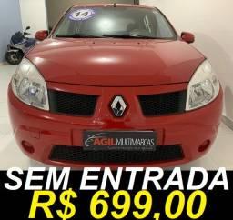 Título do anúncio: Renault Sandero 1.0 Expression Único dono 2011 Vermelho