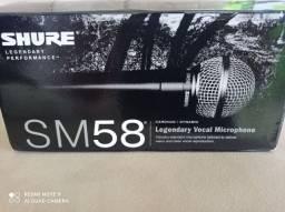 Microfone Shure sm58 novo