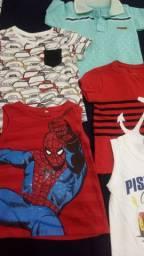 Combo. 12 camisetas infantins de ótima qualidade 50 reais