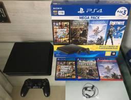 PS4 slim (4 meses de uso) muito novo