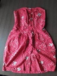 Vestido Colcci vermelho estampado - M