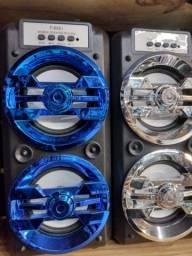 Título do anúncio: Só R$150 Caixa de Som 35cm Bluetooth Pendrive Rádio FM AUX entrada de microfone