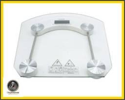 Balança Digital de Vidro Temperado de Até 180kg para Banheiro/Academia