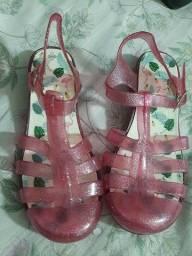 Título do anúncio: Melissa flamingo rosa glitter