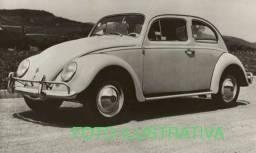 Fusca da década de 50 e o modelo Itamar cor preta