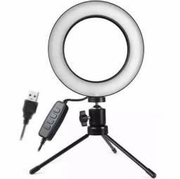 Iluminador Ring Light de Mesa com Tripé 6 Polegada 16cm