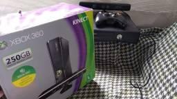 Título do anúncio: Xbox 360 Slim + Kinect + 2 jogos