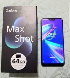 Título do anúncio: Asus zenfone max SHOT 64gb toper na caixa