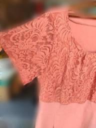 Título do anúncio: Vestido rosa GG