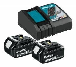 Kit Carregador 18v Dc18rc + 2 Bateria 4ah 18v Makita