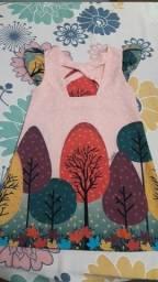 Vestido infantil nº 06 semi-novo