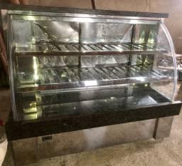 Vitrine em aço inox refrigerada