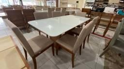 Título do anúncio: Mesa de jantar para seis lugares nova