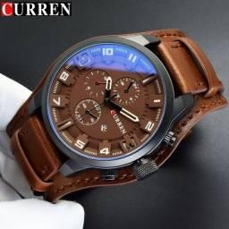 Dia dos namorados, Relógio Curren com Bracelete de Couro PU