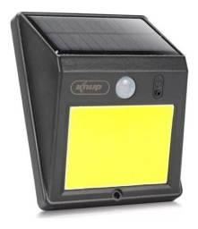 Luminária Solar Arandela 60 Leds C/ Sensor Presença C/ Chip