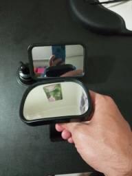 2 Espelhos Retrovisor Interno Vigia Bebê Universal Carro 2 Em 1