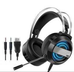 Fone De Ouvido Q9 3.5mm Headset Com Microfone Headband Ajustável Para Pc / Desktop