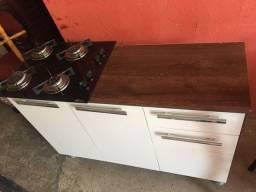 Título do anúncio: Vendo um balcão acompanhado de um fogão cooktop ( funcionando tudo )