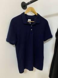 Camisa Polo Azul Marinho P Zara
